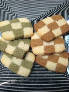 Checkerboard Cookies (green tea & coffee)