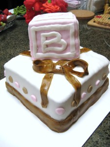 Pearlin's Baby Shower Cake